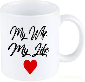 Madworld My Wife My Life Heart Best Attractive Quotes Printed