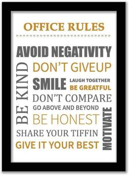 Love Quotes Frames Office Rules