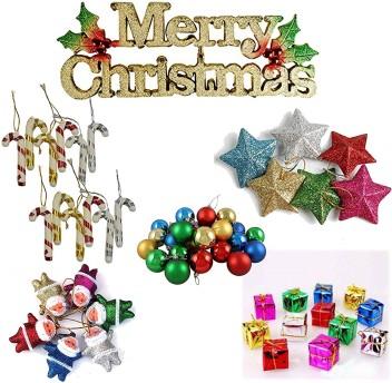 1 pack 12 pcs Christmas  Ornaments Xmas Tree Hanging Decorations pack mix