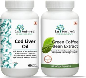 La Natures Cod Liver Oil 60 Green Coffee Bean Extract Capsule