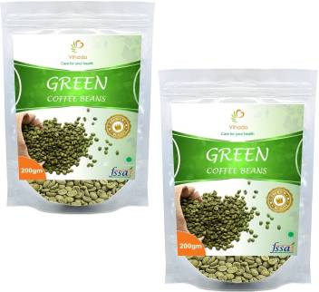 Vihado Organic Green Coffee Beans For Weight Loss 2 Pack Of
