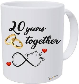 blinkNshop Happy 8th Marriage Anniversary 8 years love Ceramic Coffee Mug