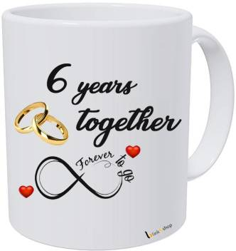 Blinknshop Happy 6th Marriage Anniversary 6 Years Love Ceramic Coffee Mug Price In India Buy Blinknshop Happy 6th Marriage Anniversary 6 Years Love Ceramic Coffee Mug Online At Flipkart Com