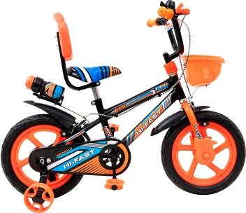 Bicycle for Kids Orange 18 Inch Little Boys Girls Training Wheel BMX Cycle Bike