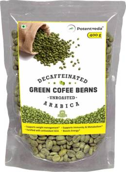 Potentveda Green Coffee Beans Unroasted Arabica Weight Loss