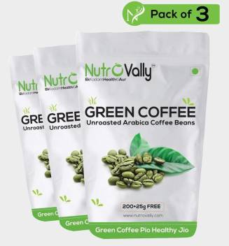 Nutrovally Organic Green Coffee Beans For Weight Loss 200g 25g