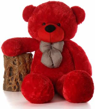 Red Teddy Bear 5 Feet, Mzm 5 Feet Red Teddy Bear For Girls And Kids For New Year And Valentine 152 4 Cm 5 Feet Red Teddy Bear For Girls And Kids For New Year And
