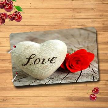 Forever Love Wooden Scrapbook Photo