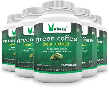 Vubasil Green Coffee Beans Extract Capsule Pure Natural Weight