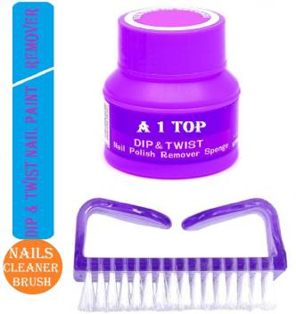 A 1 Top Nail Cleaning Brush With Dip And Twist Nail Polish Remover Price In India Buy A 1 Top Nail Cleaning Brush With Dip And Twist Nail Polish Remover Online