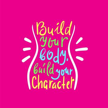 Build Your Body Premium Wall Quotes Poster Motivational And Inspirational No Need Of Tape Size 12x18 Inch Paper Print Quotes Motivation Posters In India Buy Art Film Design Movie Music Nature