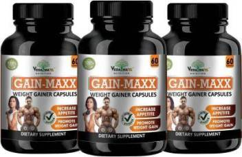 VEDA MAXX GAIN MAXX Weight Gainer Capsules Supplement for Increase  Appetite, Veg (Pack of 3) Price in India - Buy VEDA MAXX GAIN MAXX Weight  Gainer Capsules Supplement for Increase Appetite, Veg (