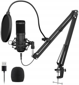 Techtest Condenser Streaming Gaming Mic Microphone Recording For Singing Usb Kit Podcast Professional Voice Recorder Youtube