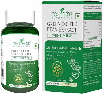 Neuherbs Green Coffee Bean Extract With Piperine For Weight Loss
