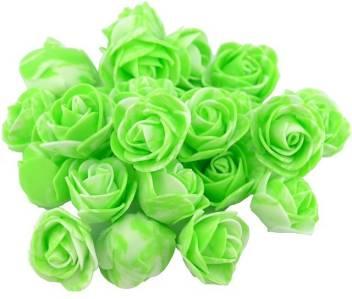 Efforwave Green Artificial Flower Roses For Tiara Making Craft Kit Decoration Flower For Hair Flower For Home Decor 50 Piece 3 Cm Green Rose Artificial Flower Price In India