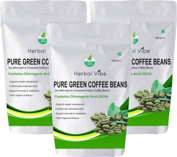 Herbal Vibe Premium Green Coffee Beans For Weight Loss Instant