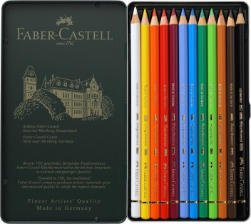 Free Delivery Faber-Castell Polychromos Color Pencil Set Pack of 12