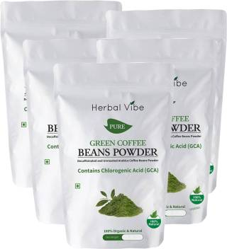 Herbal Vibe Green Coffee Beans Powder Roast Ground Coffee Price
