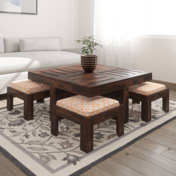 Urbanwood Sheesham Wood Centre Table With 4 Stools Solid Wood Coffee Table Price In India Buy Urbanwood Sheesham Wood Centre Table With 4 Stools Solid Wood Coffee Table Online At Flipkart Com