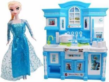 Premsakhi Frozen Barbie Dream House Kitchen Set With Utensils For Kids Frozen Barbie Dream House Kitchen Set With Utensils For Kids Shop For Premsakhi Products In India Flipkart Com