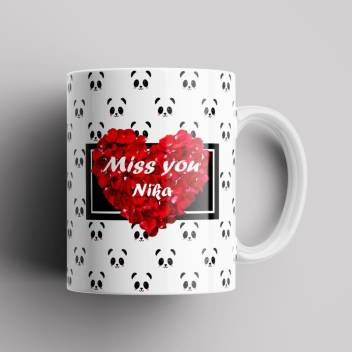 Difuminar Tomar conciencia Clan  BEAUTUM Model EBMSU014566 MISS YOU Nika Name Printed Best Gift White  Ceramic Coffee Mug Price in India - Buy BEAUTUM Model EBMSU014566 MISS YOU  Nika Name Printed Best Gift White Ceramic Coffee