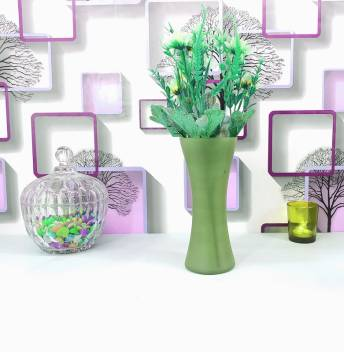 Faacraft Curve Glass Designer Small Home Decorative Flower Vases For Home Decor Side Corners Living Room Dining Room Center Table Bedroom Centerpiece Lime Green Glass Vase Price In India Buy Faacraft