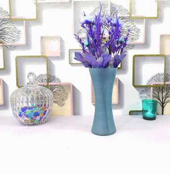 Faacraft Curve Glass Designer Small Home Decorative Flower Vases For Home Decor Side Corners Living Room Dining Room Center Table Bedroom Centerpiece Steel Blue Glass Vase Price In India Buy Faacraft