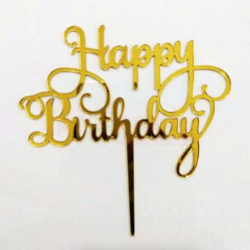 Propsicle Golden Acrylic Happy Birthday Cake Topper Cake Topper Price In India Buy Propsicle Golden Acrylic Happy Birthday Cake Topper Cake Topper Online At Flipkart Com