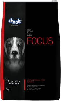Drools Focus Puppy Super Premium Chicken 4 Kg Dry New Born Dog Food Price In India Buy Drools Focus Puppy Super Premium Chicken 4 Kg Dry New Born Dog Food Online