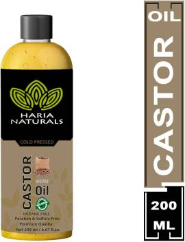 Haria Naturals Cold Pressed Castor Oil 200 Ml Hair Oil Price In India Buy Haria Naturals Cold Pressed Castor Oil 200 Ml Hair Oil Online In India Reviews Ratings Features Flipkart Com