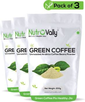 Nutrovally Green Coffee Powder For Weight Loss Fat Burner Instant