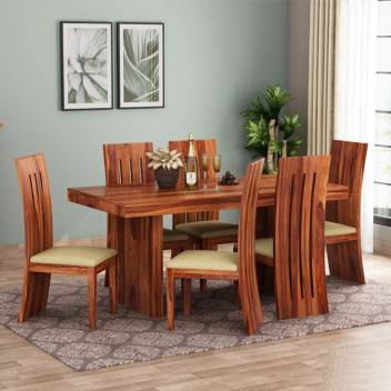 Mooncraft Furniture Wooden Dining Table With 6 Chairs Solid Wood 6 Seater Dining Set Price In India Buy Mooncraft Furniture Wooden Dining Table With 6 Chairs Solid Wood 6 Seater Dining