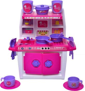 Toydor Barbie Doll Kitchen Set For Girls Kids Toys For Kids Non Toxic Bpa Free Material Used Medium Size Height 30 Cm Width 21 Cm Barbie Doll Kitchen Set For Girls
