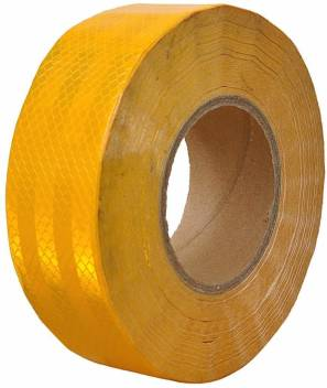 50m x 50mm Reflective Safety Tape Self Adhesive Vinyl High Intensity Roll WHITE