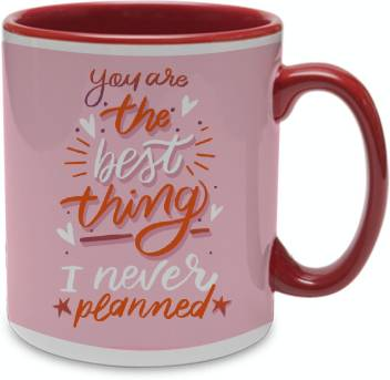 Color Yard Best Happy Valentines Day Gift Quotes Design On Maroon Inner Handle Ceramic Coffee Mug Price In India Buy Color Yard Best Happy Valentines Day Gift Quotes Design On Maroon
