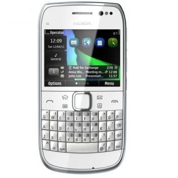 Nokia E6 (White, 8 GB)