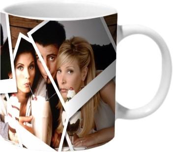 CERAMIC COFFEE MUG FRIENDS CUP POLAROIDS