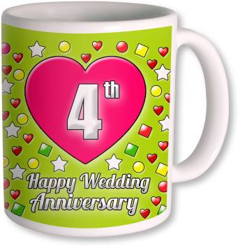 Photogiftsindia Gift For 4th Wedding Anniversary Ceramic Coffee Mug Price In India Buy Photogiftsindia Gift For 4th Wedding Anniversary Ceramic Coffee Mug Online At Flipkart Com