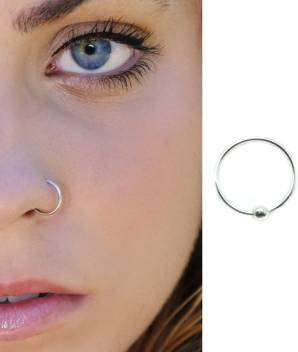 Star Silver Sterling Silver Nose Ring Price In India Buy Star