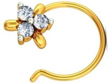 Gunjan Diamond Diamond Gold Plated Rhodium Plated Gold Nose Ring Price In India Buy Gunjan Diamond Diamond Gold Plated Rhodium Plated Gold Nose Ring Online At Best Prices In India Flipkart Com