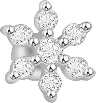 Ciemme 0 09 Ct Flower Diamond White Gold Nose Stud Price In India