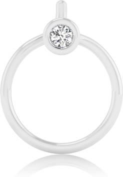 Iskiuski Arrosa Nose Pin Swarovski Crystal Platinum Plated