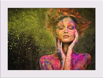Artzfolio Woman Muse With Creative Body Art Framed Art Print Digital Reprint 5 Inch X 7 Inch Painting Price In India Buy Artzfolio Woman Muse With Creative Body Art Framed Art