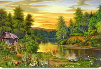 Beautiful Drawing Of Nature Paper Print Nature Posters In India Buy Art Film Design Movie Music Nature And Educational Paintings Wallpapers At Flipkart Com