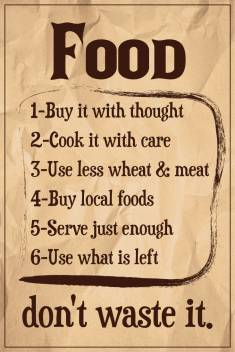 Seven Rays Food Don T Waste It Paper Print Quotes Motivation Posters In India Buy Art Film Design Movie Music Nature And Educational Paintings Wallpapers At Flipkart Com