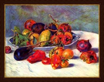 Still Life With Tropical Fruits By Renoir Artsnyou Printed