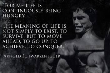 Oshi Arnold Schwarzenegger Motivational Quote 2 Paper