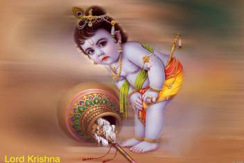 large lord krishna 3644 little krishna poster original