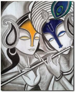 stybuzz lord krishna and radha modern art cv00051 original