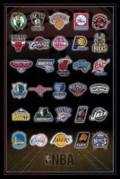 Posterhouzz Nba Team Logos Poster Paper Print Sports Posters In India Buy Art Film Design Movie Music Nature And Educational Paintings Wallpapers At Flipkart Com